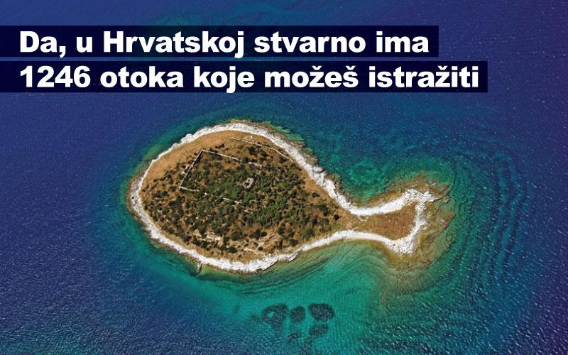 Da, u Hrvatskoj stvarno ima 1246 otoka koje možeš istražiti