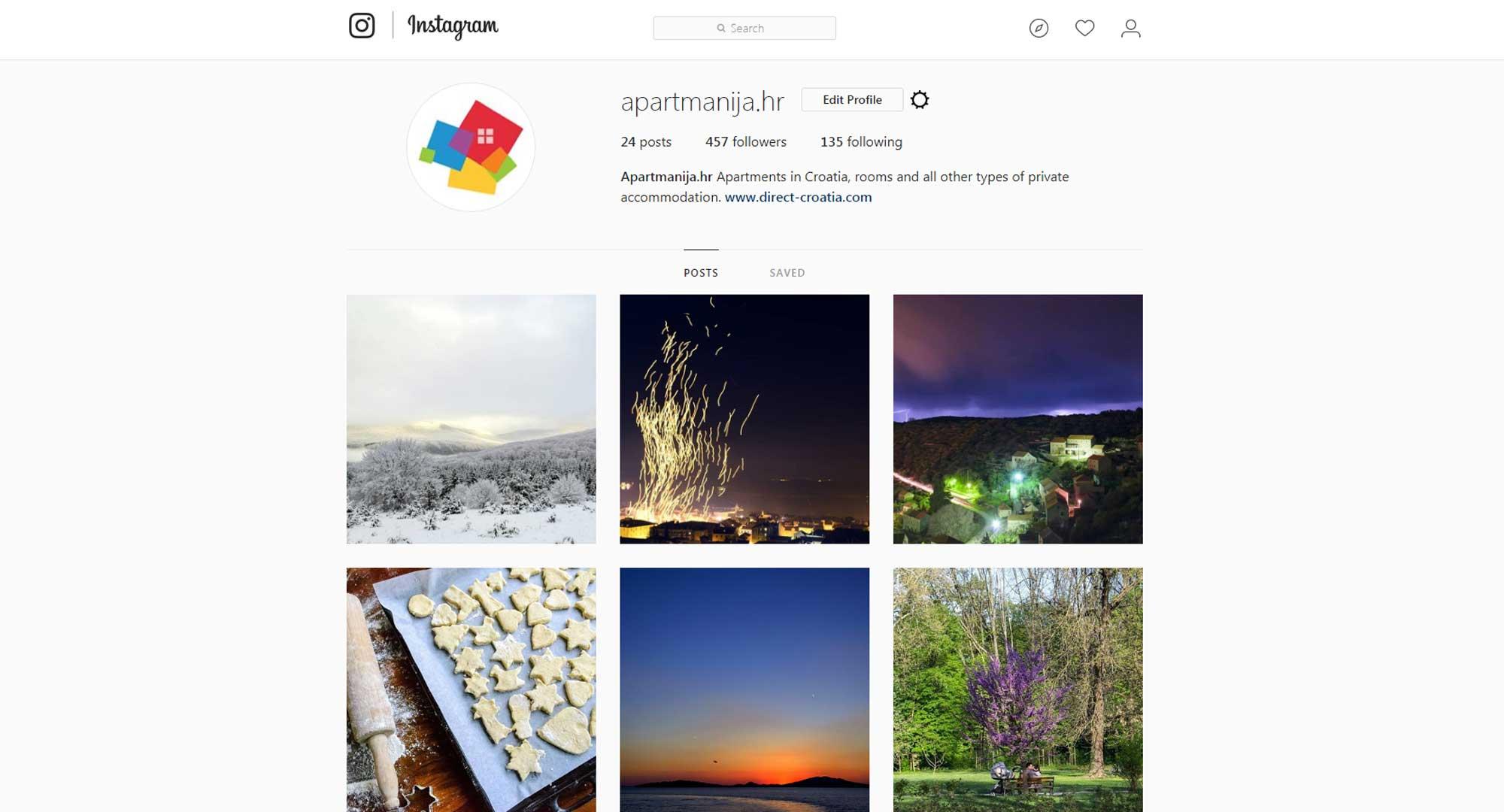 Kako koristiti Instagram za oglašavanje apartmana Uređivanje profila