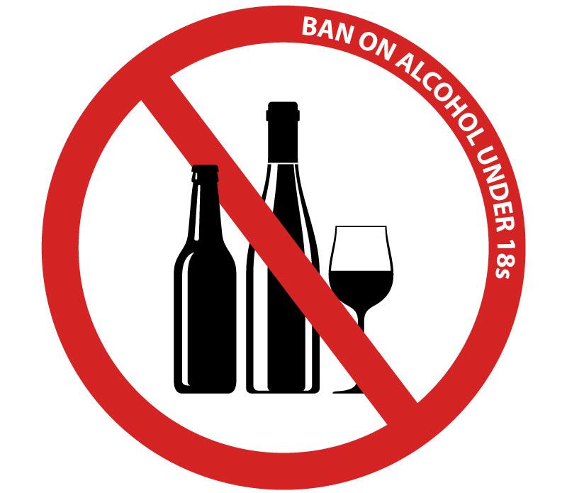 Oznaka zabrane posluživanja alkohola osobama mlađim od 18 godina