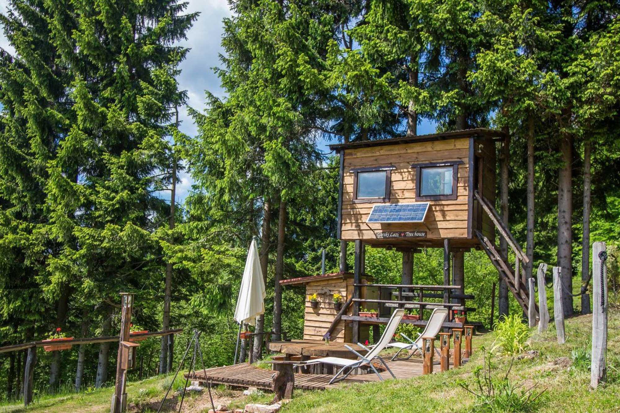 Veličina (ni)je bitna - Najmanji apartmani i kuće za odmor na svijetu Gorski Lazi kućica na stablu