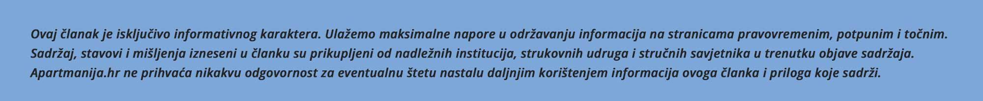 Apartmanija.hr izjava o odricanju odgovornosti