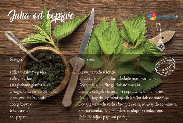 Juha od koprive -recept