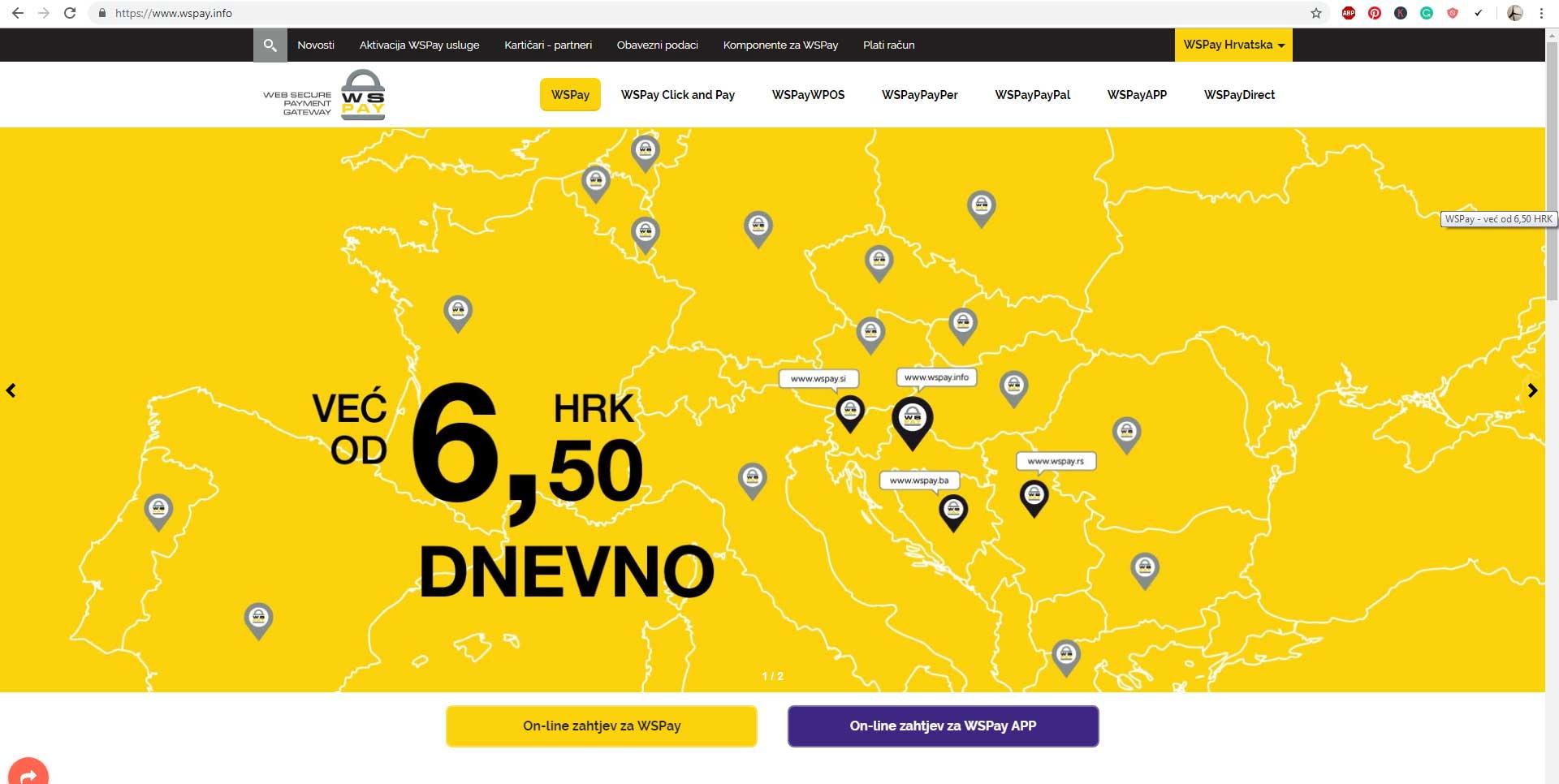 Online plaćanje smještaja: Top 5 payment gateway sistema u Hrvatskoj WS Pay