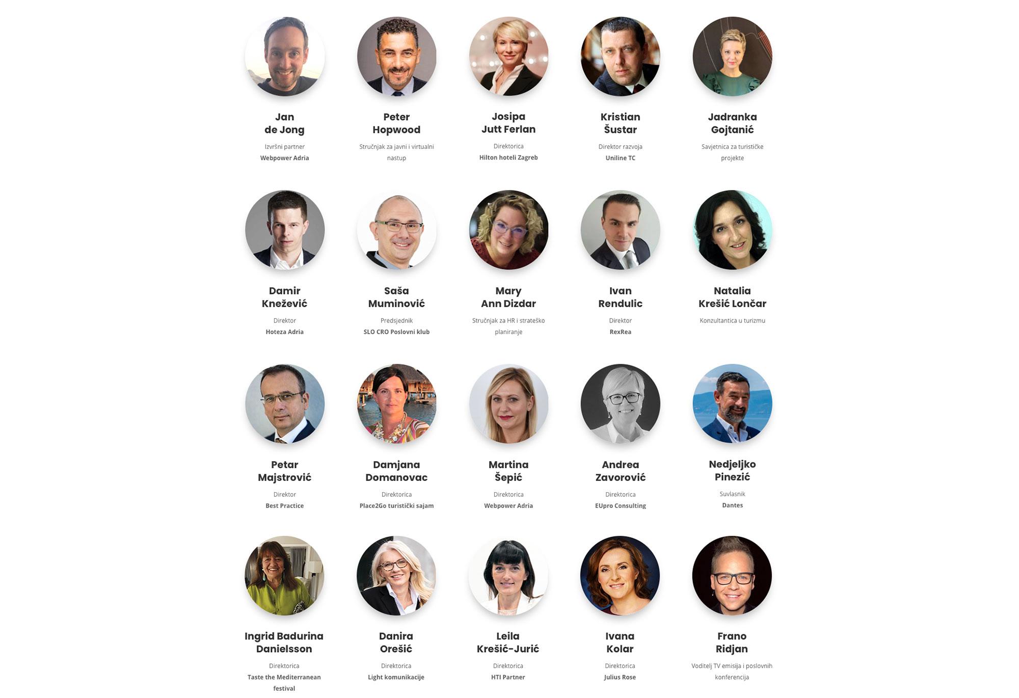 Predavači webinara Smart Tourism Meet up
